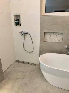 Betonpadló fürdőszoba