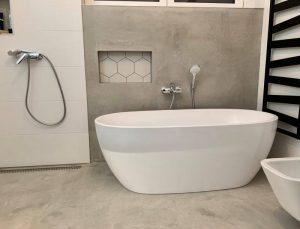 Dekorbeton padló fürdőszoba