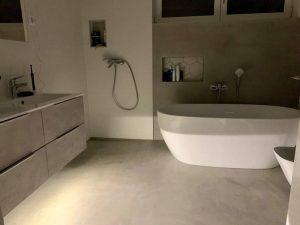 Design beton fürdőszoba